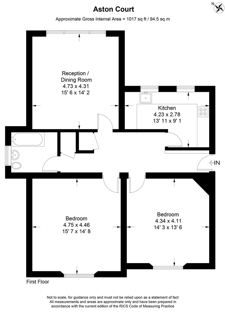 Floorplan for Aston Court, Lansdowne Road, Wimbledon